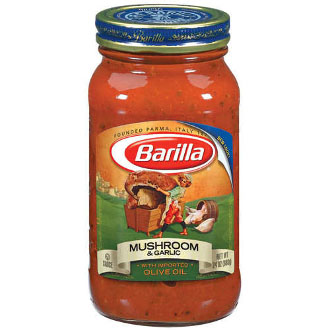 Barilla Mushroom and Garlic Pasta Sauce